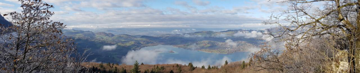 Vue hiver du pays du lac d'Aiguebelette